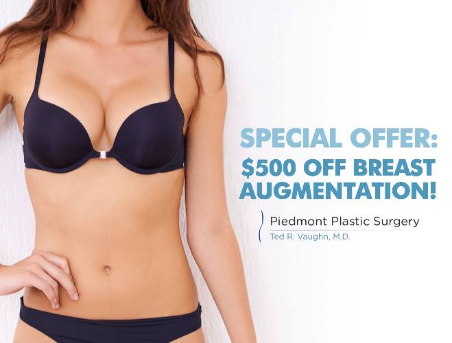 Breast augmentation special discount in Greenville