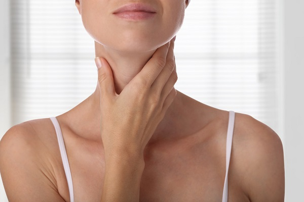 woman with smooth neck after KYBELLA injections